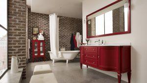 mobili bagno rossi
