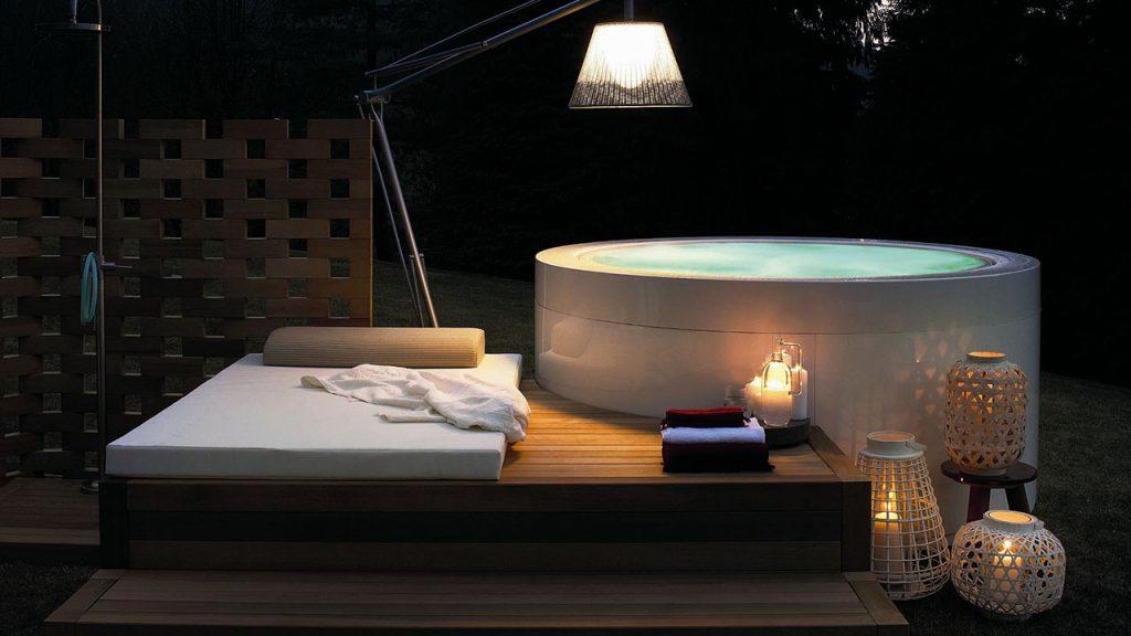 vasca tonda con idromassaggio