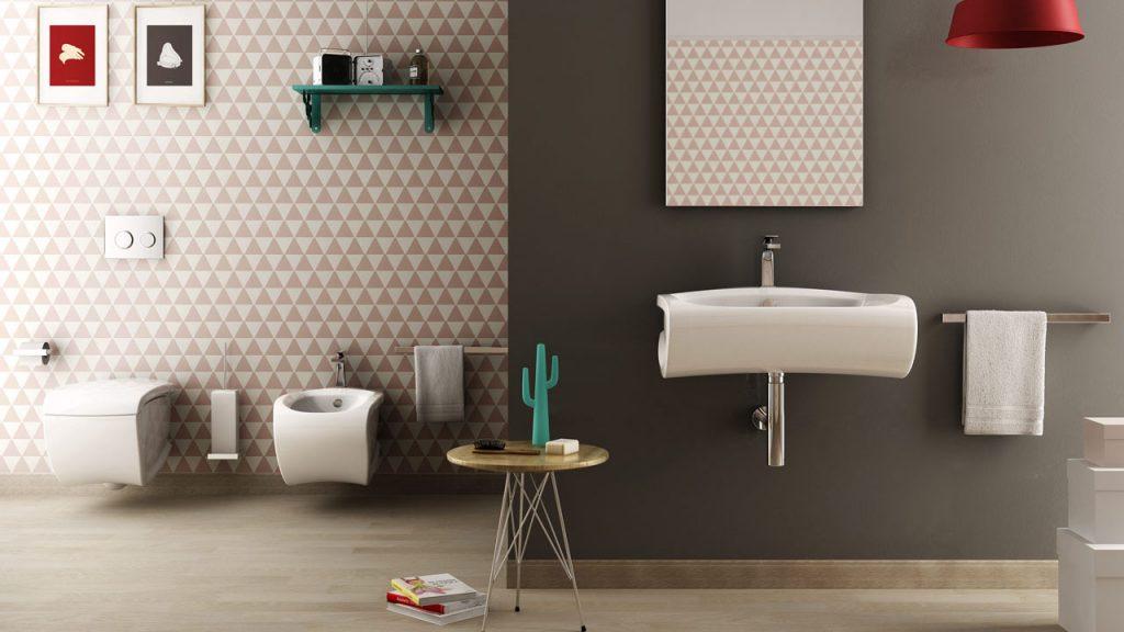 bagno con sanitari quadrati